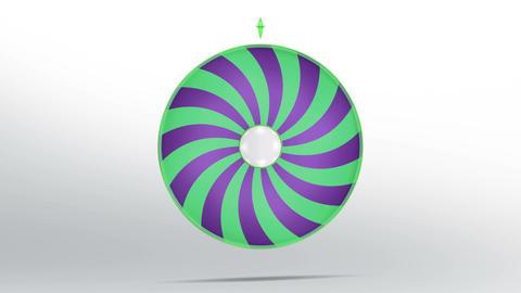 Lucky wheel style 4K Animation