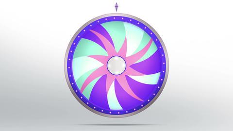 Star lucky spin twelve purple 4K Animation