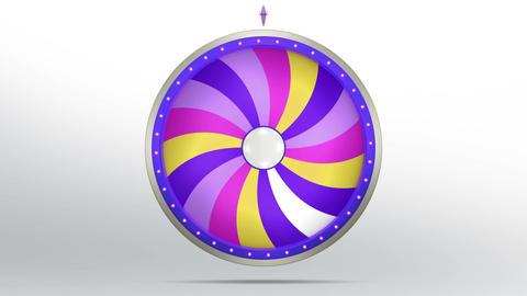 Lucky spin twirl eighteen purple 4K Animation