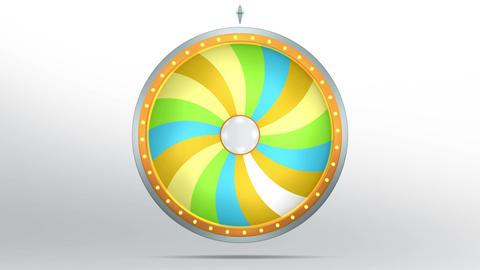 Lucky spin twirl eighteen yellow 4K Animation