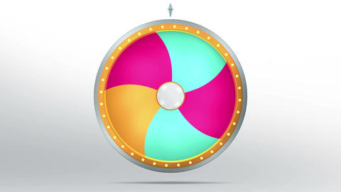 Lucky spin twirl five color 4K Animation