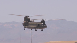CH-47 Chinook helicopter takes off at Red Flag Footage