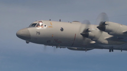 Japan Maritime Self-Defense Force P-3C Fires Harpoon missile Footage