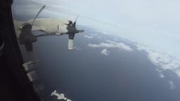 Japan Maritime Self-Defense Force P-3C Fires Harpoon missile Footage