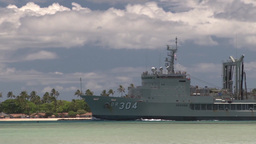 Her Majesty's Australian Ship Success (AOR-304) departs for sea phase of RIMPAC Footage