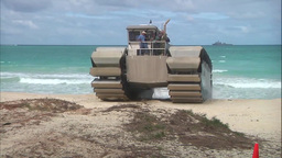 The Ultra Heavy-Lift Amphibious Connector Advanced Warfighting Experiment stock footage