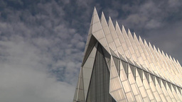 Scenic time lapse shots from around the Terrazzo at the Air Force Academy Footage