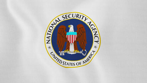 4K Loopable: Waving Flag With Logo of National Security Agency of United Live Action