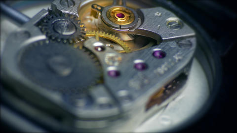 4K Watch Mechanism / Clockwork / Time Keeping Footage