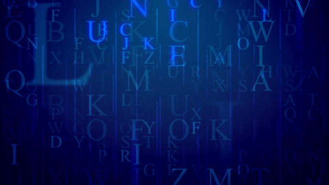 Random alphabet letters background. Seamless loop Animation