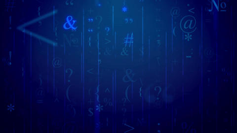 Random alphabet letters background. Seamless loop Animation
