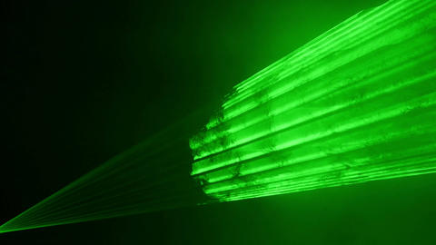 Video of green laser show in 4K Footage