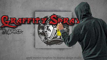 Graffiti Spray logo Apple Motionテンプレート