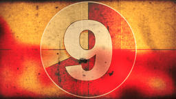 Count down numbers with grunge overlay Animation