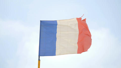 Video of french flag in 4K Footage