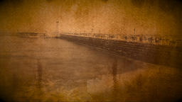 Vintage effect added to Whitby pier time lapse Footage