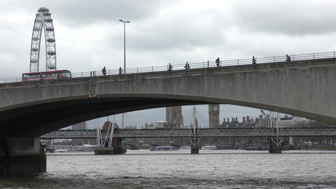 Bridges and symbols of London Footage