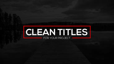 Clean Titles After Effects Project