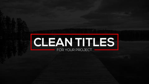 Clean Titles - After Effects text animation template After Effectsテンプレート