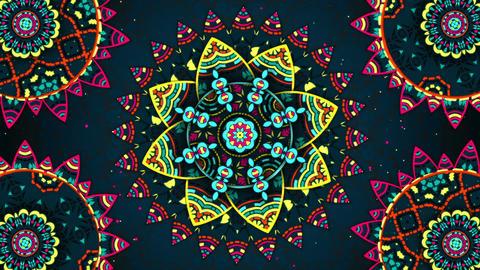 Flower Kaleido Background Loop