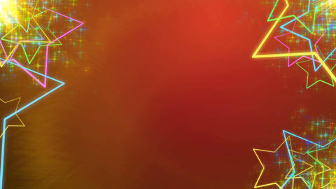 Holiday Animated colorful stars in sides Animation