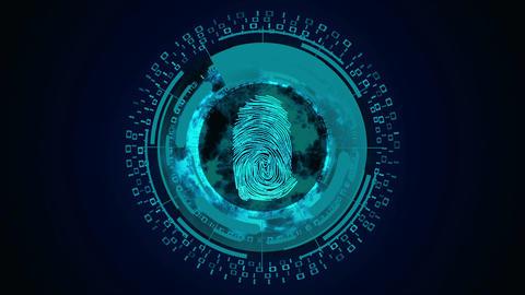 Cyber security fingerprint di 01 Acción en vivo