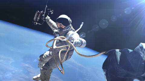 Astronaut in outer space Animation