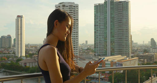 Attractive Thai Woman In Bangkok Footage
