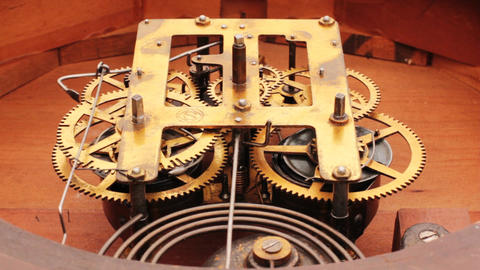The Mechanism Of The Old Clock 10 Footage