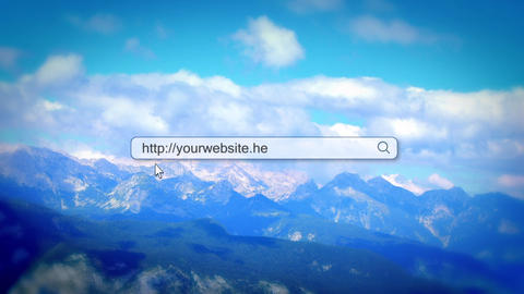 Website search bar intro After Effects Template