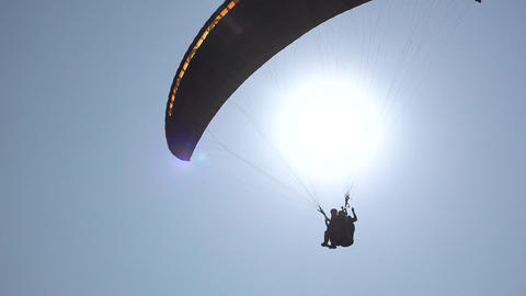 Parasailing And Sky Diving Footage