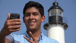 Teen Boy Lighthouse Selfie Live Action