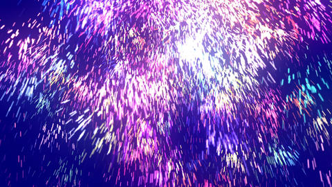 Abstract Massive Blue Particles Animation