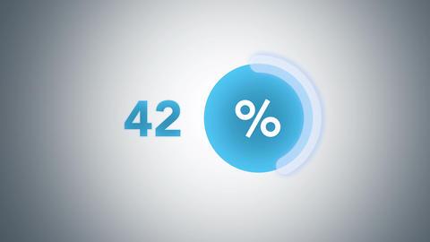 Blue glowing percentage progress indicator Footage