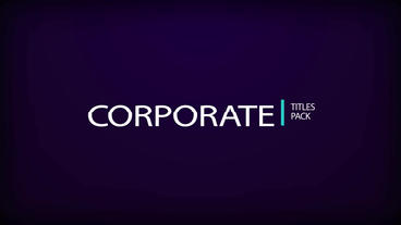 Corporate Title Pack After Effects Templates