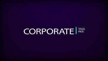 Corporate Title Pack Plantilla de After Effects