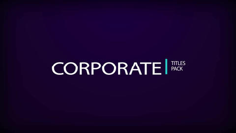Corporate Title Pack After Effects Template