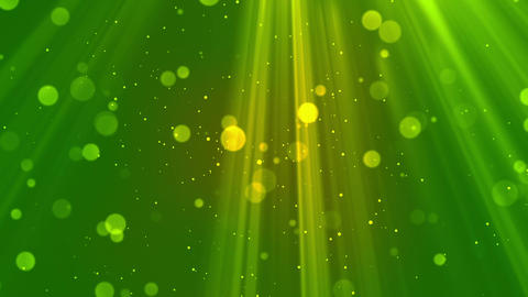 Bokeh Light Rays Green Animation