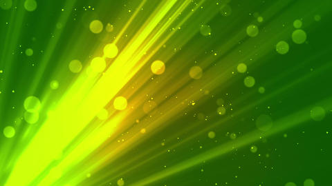 Bokeh Soft Rays Green Animation