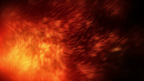 Fiery Massive Particles Red Animation