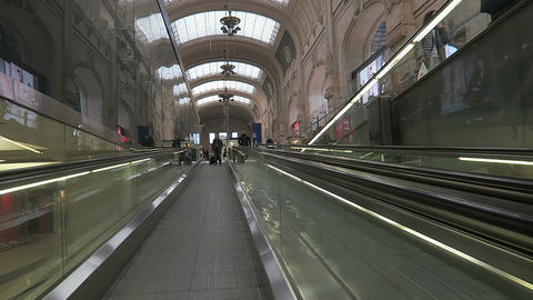 Milan, Italy Central Railway station metro escalator 画像