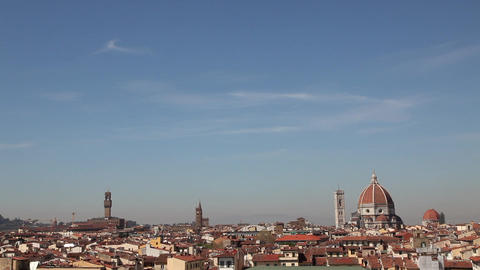 Urban View Of Florence Italy Firenze Italian City In Tuscany Live Action