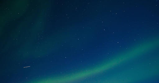 Northern Lights, polar light or Aurora Borealis in the... Stock Video Footage