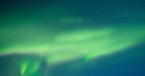 Northern Lights, polar light or Aurora Borealis in the night sky Footage