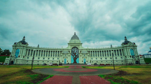 Timelapse Camera Moves to Agriculture Ministry Building Footage