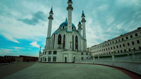 Timelapse Camera Moves Around Kul Sharif Mosque Footage