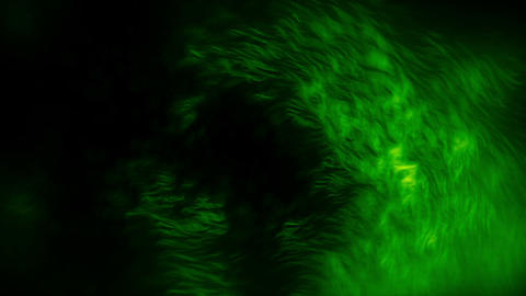 Fiery Particles Fly Green Animation