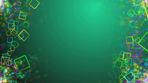 Holiday Animated colorful squares in sides Animation