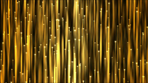 Rising Particle Beams Background Animation - Loop Golden Animation