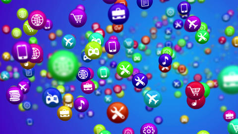 Abstract random mobile apps Animation